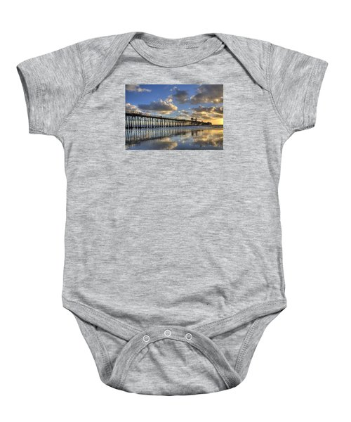 Oceanside Pier Sunset Reflection Baby Onesie