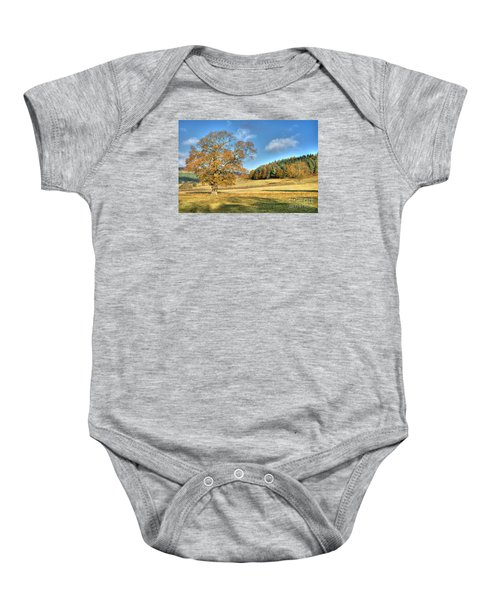 October Gold Baby Onesie