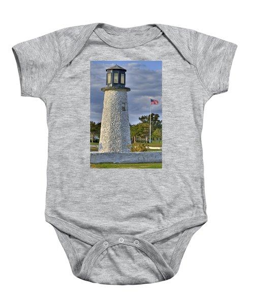 Old Buckroe Lighthouse Baby Onesie