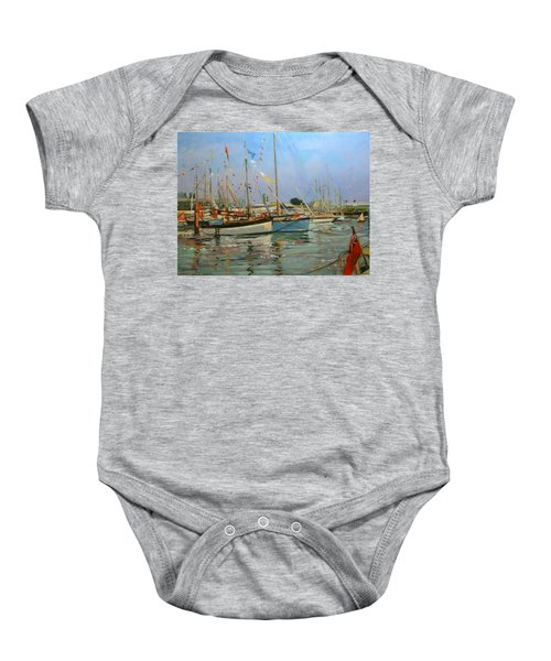 Old Gaffers  Yarmouth  Isle Of Wight Baby Onesie