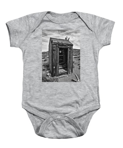 Old Outhouse Baby Onesie