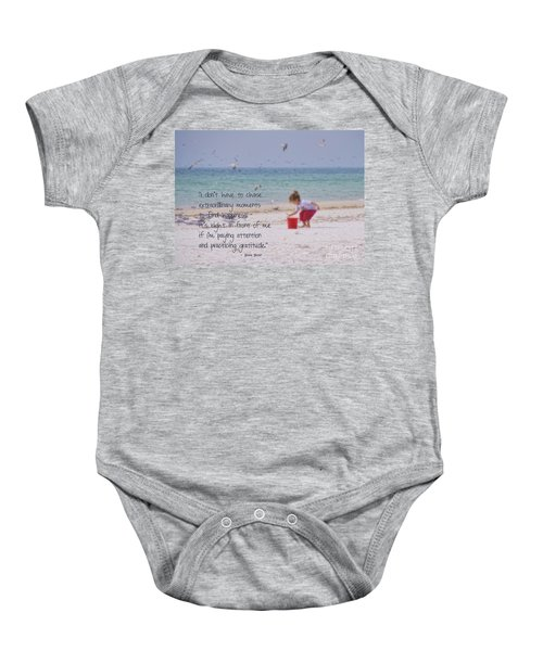 One Moment In Time Baby Onesie by Peggy Hughes