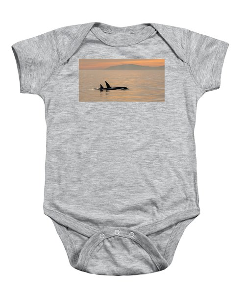 Orcas Off The California Coast Baby Onesie