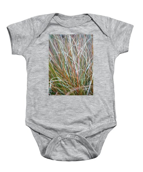 Ornamental Grass Abstract Baby Onesie