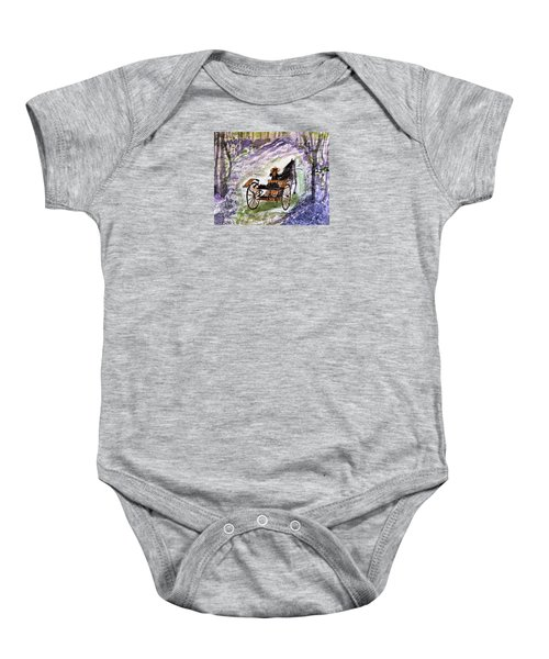 Out In The Meadowbrook Cart Baby Onesie