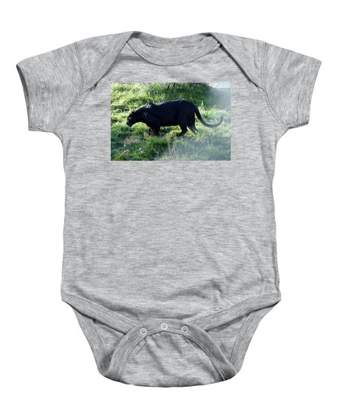 Out Of Africa  Black Panther Baby Onesie