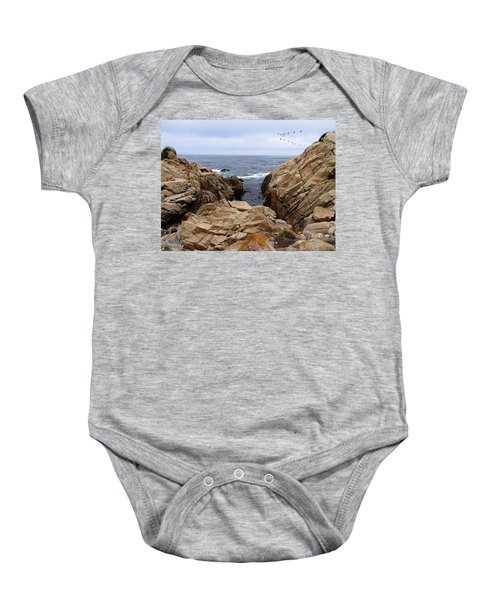 Overcast Day At Pebble Beach Baby Onesie