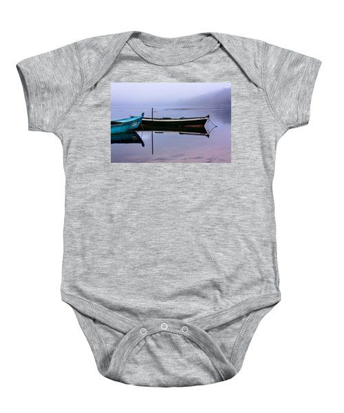Pacheco Blue Boat Baby Onesie