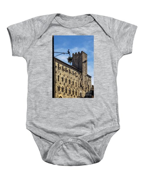 Palazzo Pretorio And The Tower Of Little Pig Baby Onesie