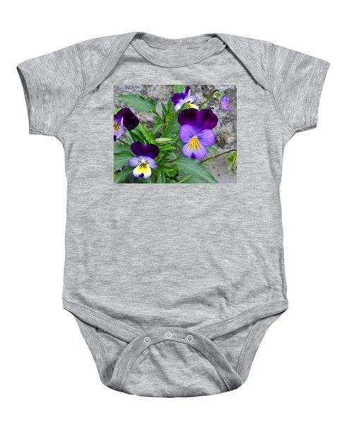 Pansies - Painterly Baby Onesie