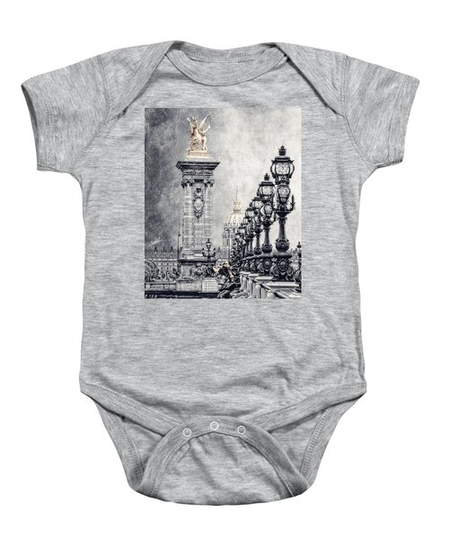 Paris Pompous 2 Baby Onesie
