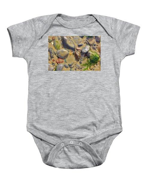 Pebbles On The Beach Baby Onesie