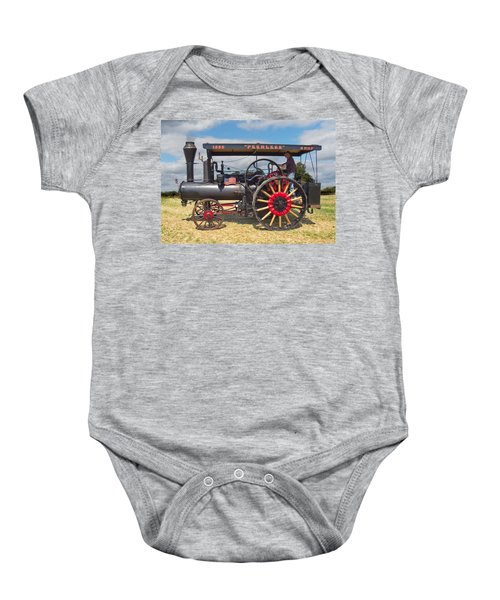 Peerless Steam Traction Engine Baby Onesie