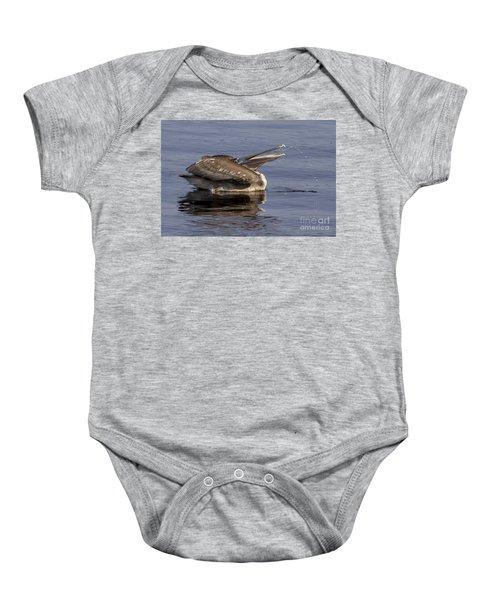 Pelican Fountain  Baby Onesie