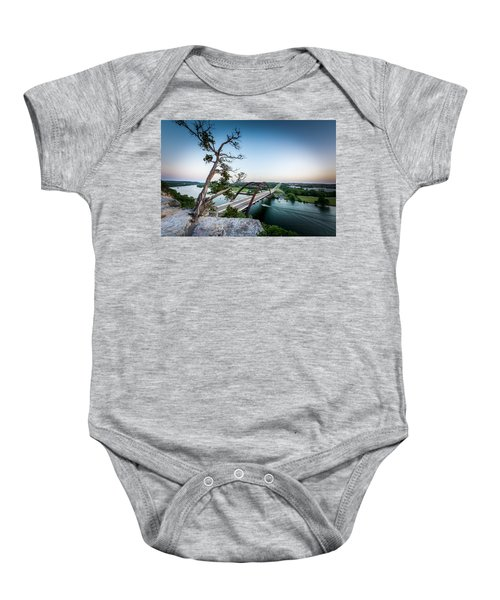 Pennybacker Bridge Austin Baby Onesie