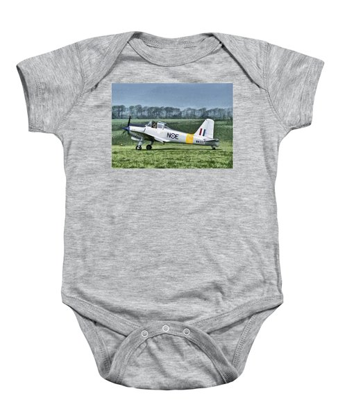 Percival Provost Textured Canvas Baby Onesie