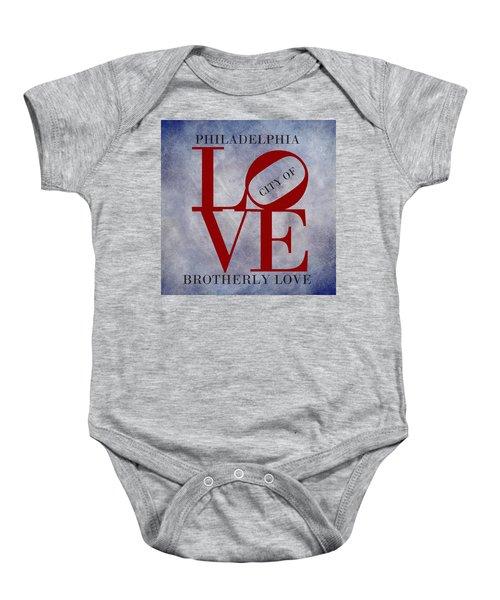 Philadelphia City Of Brotherly Love  Baby Onesie