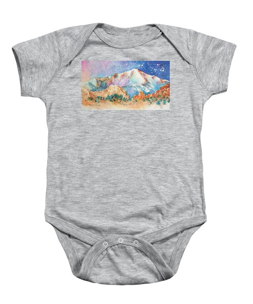 Pikes Peak Over The Garden Of The Gods Baby Onesie