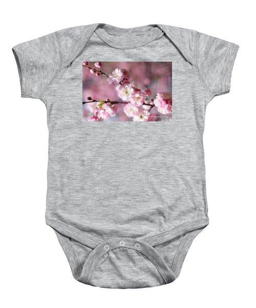 Pink Plum Branch 1 Baby Onesie