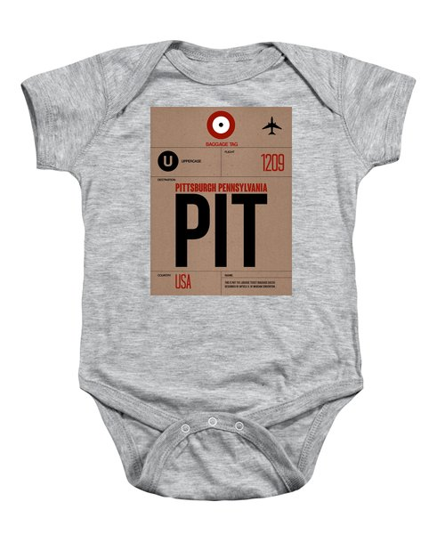 Pittsburgh Airport Poster 1 Baby Onesie