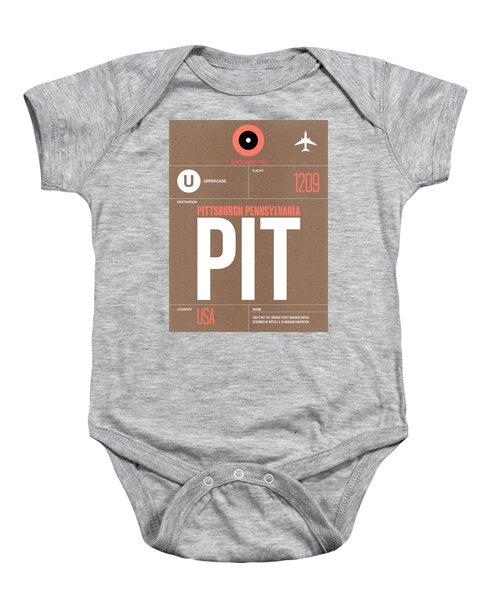 Pittsburgh Airport Poster 2 Baby Onesie