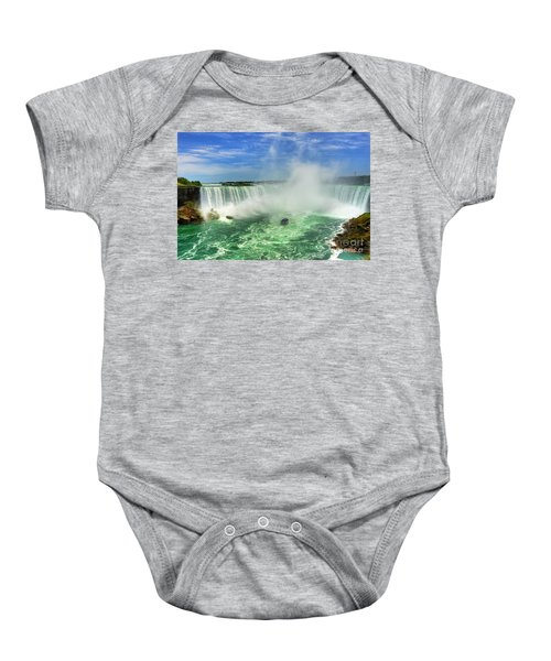 Point Of Land Cut In Two.. Baby Onesie