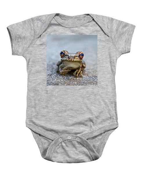 Pondering Frog Baby Onesie