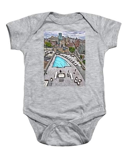 Pool With A View Baby Onesie