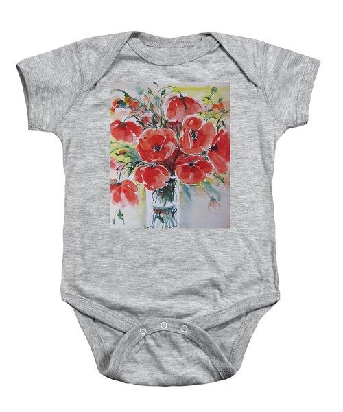 Poppies Iv Baby Onesie