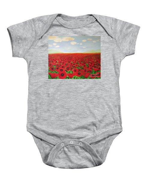 Poppy Fields Baby Onesie
