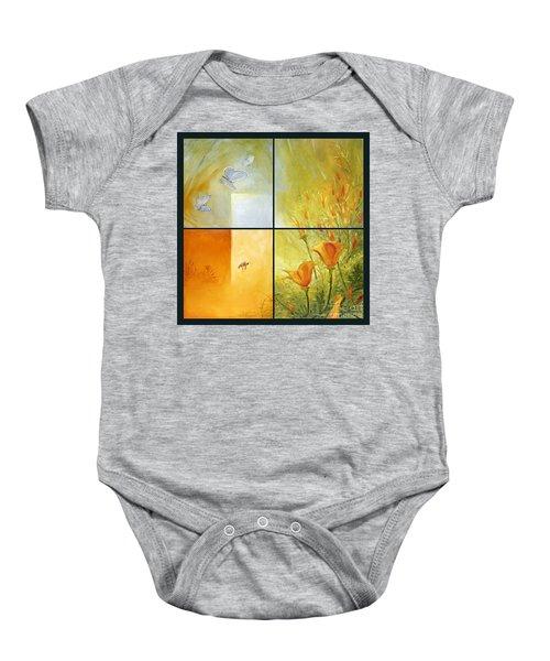 Poppy Pollination Baby Onesie
