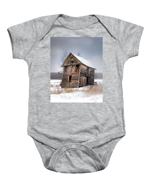 Portrait Of An Old Shack - Agriculural Buildings And Barns Baby Onesie