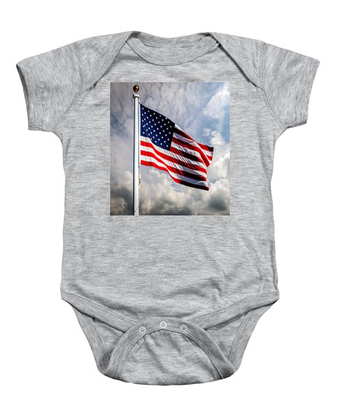 Portrait Of The United States Of America Flag Baby Onesie