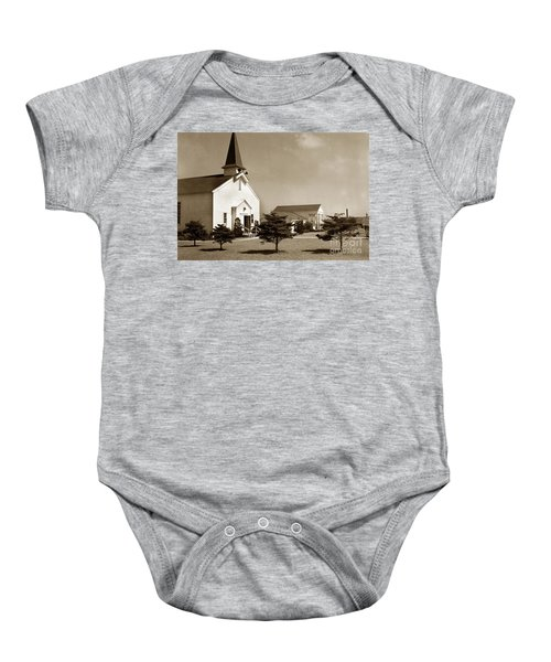 Post Chapel And Red Cross Building Fort Ord Army Base California 1950 Baby Onesie