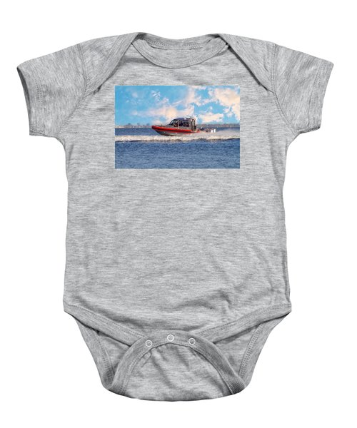 Protecting Our Waters - Coast Guard Baby Onesie