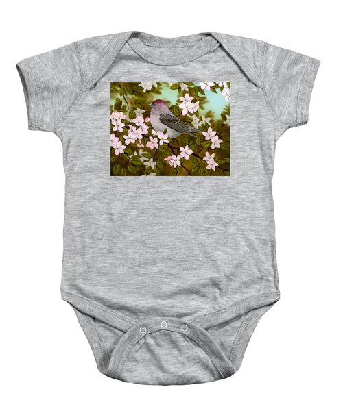 Purple Finch Baby Onesie