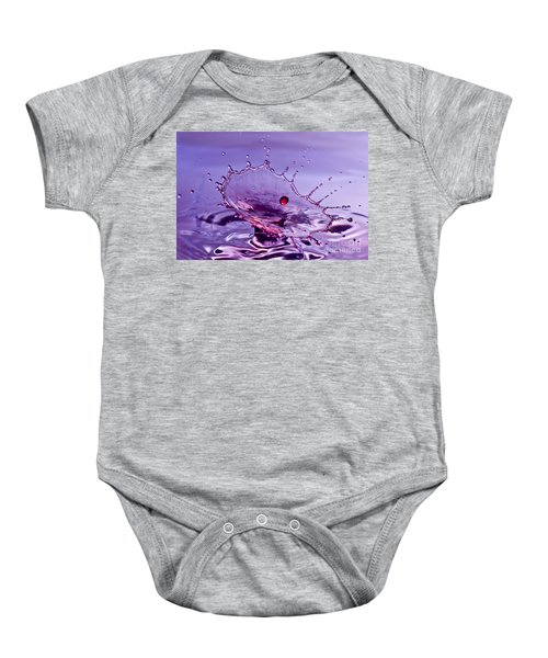 Purple Water Splash Baby Onesie