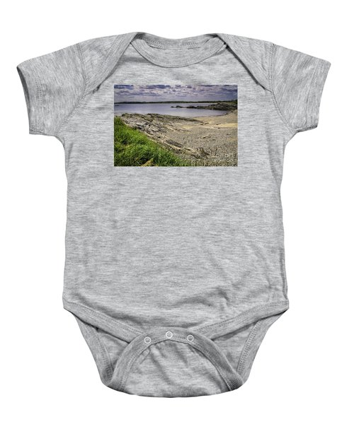 Baby Onesie featuring the photograph Quiet Cove by Mark Myhaver