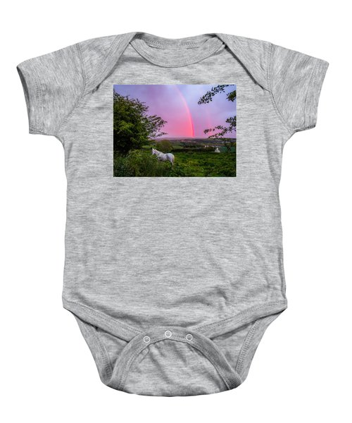 Rainbow At Sunset In County Clare Baby Onesie