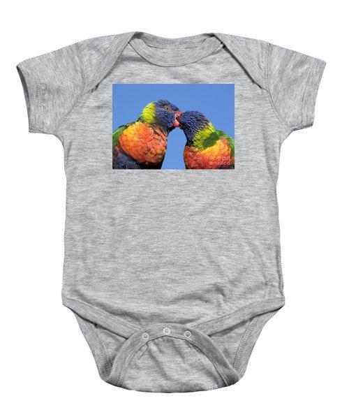 Rainbow Lorikeets Baby Onesie