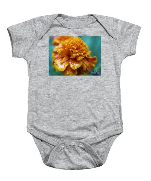 Rainy Marigolds Baby Onesie