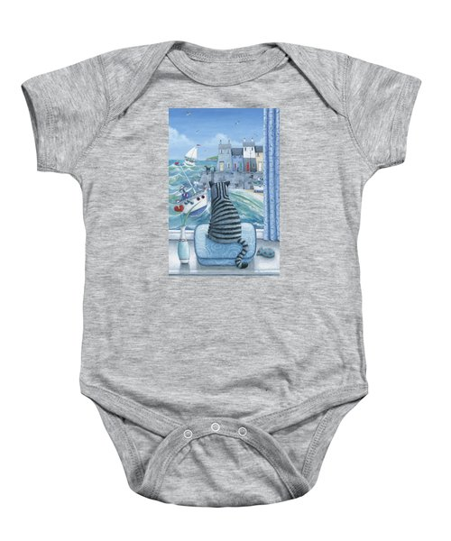 Rather Mew Baby Onesie by Peter Adderley