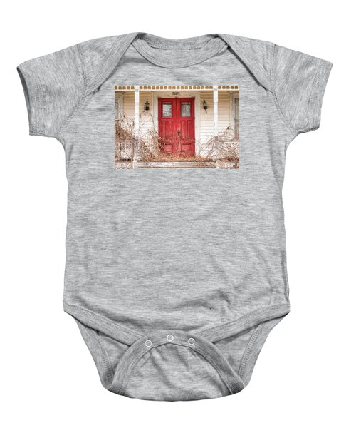 Red Doors - Charming Old Doors On The Abandoned House Baby Onesie