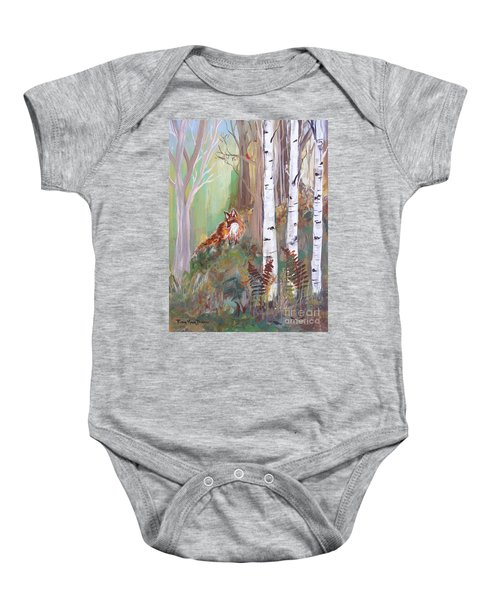 Red Fox And Cardinals Baby Onesie