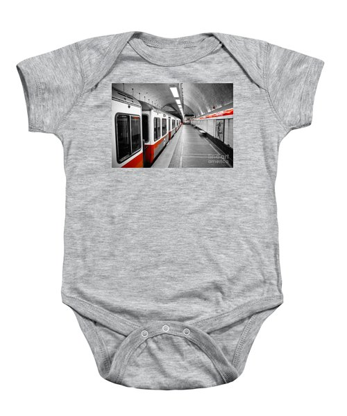 Red Line Baby Onesie