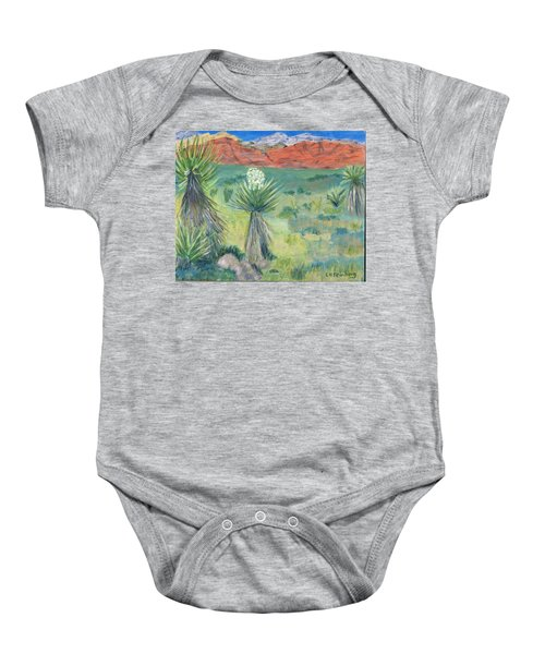 Red Rock Canyon With Yucca Baby Onesie