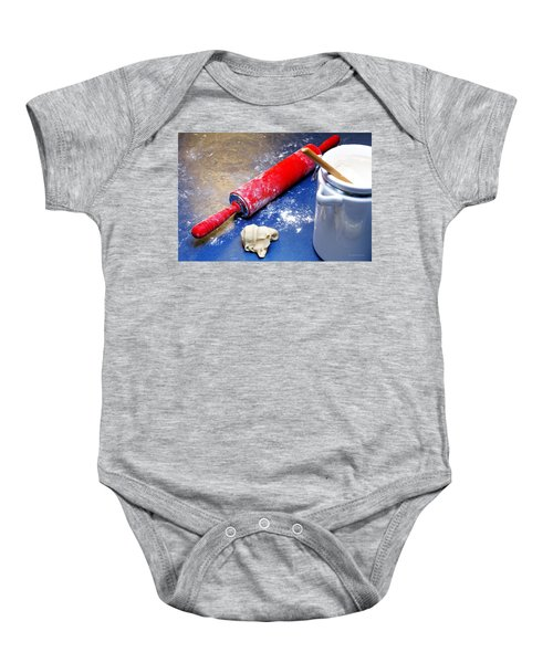 Red Rolling Pin Baby Onesie