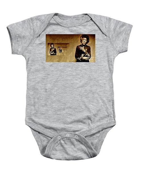 Reflecting On Jimi Hendrix  Baby Onesie