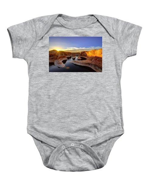 Reflection Canyon Sunrise Baby Onesie