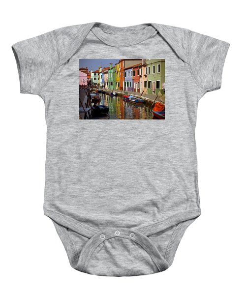 Reflections Of Burano Baby Onesie